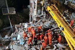 சீனாவில் இடிந்து விழுந்த கட்டடம் - 8 பேர் பலி