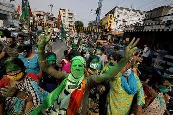 மேற்கு வங்காளத்தில்  திரிணாமூல் ஆட்சி உறுதி