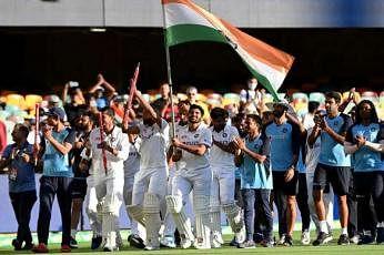 ஆஸ்திரேலியாவுக்கு எதிரான நான்காவது டெஸ்ட் போட்டியில் இந்தியா வரலாற்று வெற்றியைப் பெற்று தொடரையும் கைப்பற்றியது. படம்: சமூக ஊடகம்