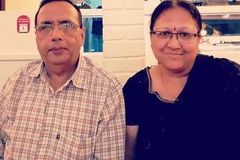 சுஷில் கெமானி, குசும் கெமானி தம்பதி. நன்று: கல்ஃப்நியூஸ்