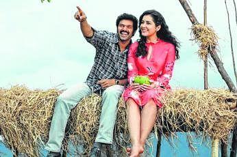 'அரண்மனை 3' படத்தில் ஆர்யா, ராஷி கண்ணா.